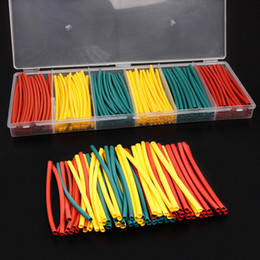Wholesale 180pcs 100mm Assorted 2:1 Heat Shrink Tubing Tube Sleeving Adhesive Electrical Insulation Cable Wire Wrap Kit Red Yellow Green