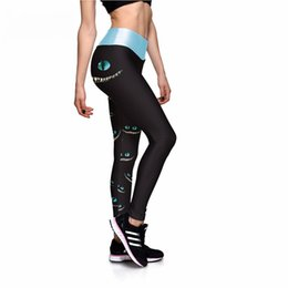 Face Leggings NZ - Black Leggings Sexy New Leggings Green-eyed Face 3D Print Women High waist Pants Trousers Ropa Mujer