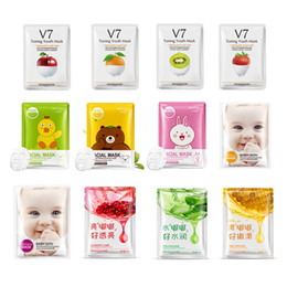 Skin peeling oil online shopping - 12 kinds Squeeze Mask Sheet Moisturising Face Skin Treatment Oil control Facial Mask Peels Skin Care Pilate