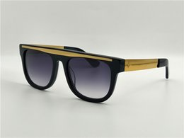China Selling new black square frame French luxury fashion brand CE 00053 gold metal legs with classic black frame reflects the street style supplier new street fashion brand suppliers