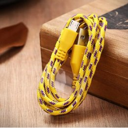 Discount chargers for cell phones iphone - 1M 3ft Nylon Braided Micro USB Cable Charger Data Sync USB Cable Cord For Smart Cell phones Tablet PC 10 colors USSZ009