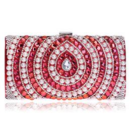 $enCountryForm.capitalKeyWord Canada - Gift Box Women Socialite Crystal Beaded Evening Clutches Bag Pearl Hollow Out Handbags Diamond Wedding Dress Bridal Clutch Purse
