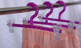 $enCountryForm.capitalKeyWord NZ - Purple Acrylic Hanger Cry chinese style stal Pants Clip Wedding Hanger colorful crystal ball Clothing Store Hanger