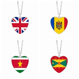 Discount easter gifts uk 2018 easter gifts uk on sale at dhgate discount easter gifts uk uk flag pendant necklaces 25mm heart glass cabochon moldova suriname grenada flags negle Images
