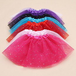 Discount skirt stars - Soft Tulle Girls Tutu Skirt Fashion Party Princess Tutu Skirts Star Glitter Hot Sales Kids Pettiskirt Dancewear Ballet D