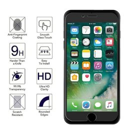 Iphone Glass Screen Guard Australia - tempered glass 9H 2.5D Premium Screen Protector For iPhone 7 7 Plus 4.7 5.5inch 6 6S Plus Samsung S8 0.3mm Protective Film Guard Free Ship