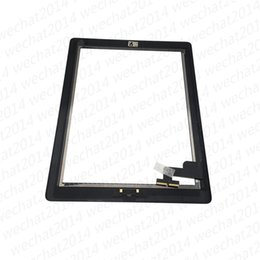 Discount glass apples - Wholesale Touch Screen Glass Panel with Digitizer for iPad 2 3 4 Black and White free Shipping