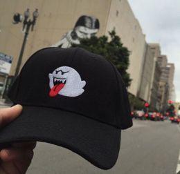 0fe33d4400e 2017 NEW Black Denim Distressed Boo Mario Ghost Dad Cap Hat hip hop baseball  hats for men women snapback cap accept drop shipping wholesale