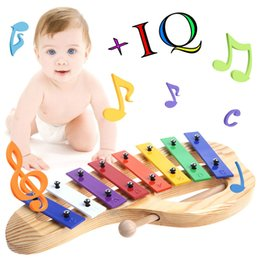 languages learning 2018 - New 8 Notes Wooden Children Kid Xylophone Glockenspiel Musical Instrument Music Toys Gifts discount languages learning