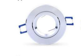 Ceiling Spotlight Bulbs UK - Round aluminum ceiling spotlights ceiling fixtures can used with GU10, MR16, GU5.3, 3W 4W 5W 9W LED spotlight bulbs MYY