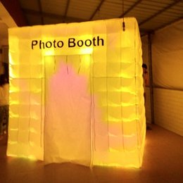 Cabin Lights Canada - popular inflatable photo booth, cube party tent,photo cabin studio lighting bar tent for wedding