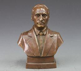 $enCountryForm.capitalKeyWord Canada - Bronze Copper carving statue Vladimir Putin Bust Figurine Art Sculpture