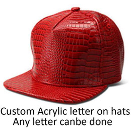 0086eafb5a3 Hot sale Wholesale PU Cap Free Custom Acrylics Snapback Leather Hats Adult  Hip Hop Golden Irish Acrylic Hat 3D Letter Baseball DIY Sun Caps