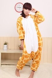 sleepwear costumes Australia - Giraffe Kigurumi Pajamas Animal Suits Cosplay Halloween Costume Adult Garment Cartoon Jumpsuits Unisex Animal Sleepwear