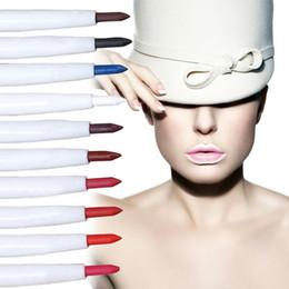 $enCountryForm.capitalKeyWord NZ - Wholesale-High quality 10 colors Lip Liner Waterproof Pencil lip line pen 11.5cm 10pcs lot Wholesale Lip make up cosmeticsA2