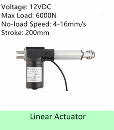 Speed S NZ - Heavy Load Capacity 600KGS  6000N 12volt DC 8inch  200mm stroke length speed 4mm s high quality electriclinearactuator