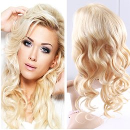 bleach blonde lace wigs NZ - Full Lace Human Hair Wigs Blonde Color 613 Body Wave Wigs With Baby Hair 150 Density Bleached Knots Brazilian Virgin Hair Glueless