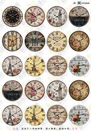 $enCountryForm.capitalKeyWord Australia - BoYuTe (20 pieces lot) 20mm Round Pattern Cabochon Mix Clock Tower Building Kawaii Image Glass Cabochon Blank Pendant Cover xl7102
