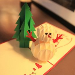 $enCountryForm.capitalKeyWord Canada - 10pcs lot Laser Cut Invitations Handmade Kirigami & Origami 3D Pop UP Card Creative Merry Christmas Gift&Greeting Cards