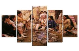 5 шт Стена холст Картина для домашнего декора Этнические обычаи Современная домашняя обложка для стен Живопись Холст Art HD Печать Живопись Холст