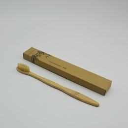 Cepillo de dientes de bambú personalizado Limpiador de lengua Dientes dentales Kit de viaje Cepillo de dientes HECHO EN CHINA ENVÍO GRATIS