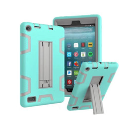 ipad rugged 2019 - Heavy Duty Armor Shockproof Rugged Drop Resistance 3-IN-1 Silicone Kickstand Case for New iPad 9.7 10.5 5 6 air 1 2 mini