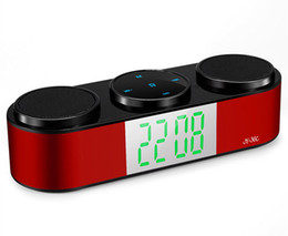 Hi Fi Speaker Boxes Canada - JY-36C Mini Portable Display Screen Wireless Bluetooth Speaker Stereo Hi-Fi Subwoofer Sound Box Hands-free FM TF USB AUX VS Speakers 75-YX