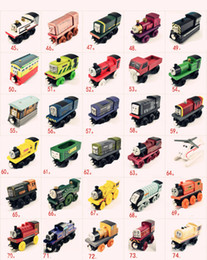 Discount toys small car - Small Trains Wooden Cartoon Toys 74 Styles Friends wooden Complete set of car toy train toys (1set=70pcs)