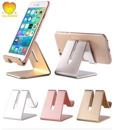 Universal cell phone desk holder online shopping - Cell Phone Stand Universal Aluminum Metal Phone Holder For iPhone Plus Samsung S8 Tablet Desk Phone Holder Stand For Smart Watch