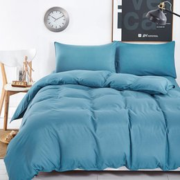 solid blue quilt bedding suppliers | best solid blue quilt bedding