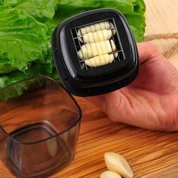 $enCountryForm.capitalKeyWord NZ - Multifunction Plastic Garlic Press Presser Crusher Stainless Slicer Grater Dicing Slicing and Storage Kitchen Vegetable Tool