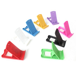 Plastic holder cheaP online shopping - Cell Phone Stand Multifunctional Foldable Phone Mounts Solid Color Plastic Holders Cheap Factory Free DHL
