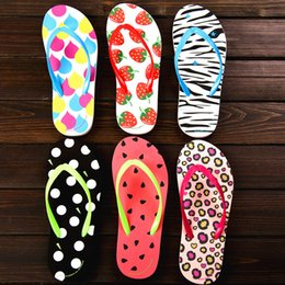 wholesale shower flip flops NZ - 5 pairs Wholesale Free Shipping Special SALES Candy colors Womens Beach Summer Slippers Flip Flops Couple slippers Multi -Color Leopard Dot