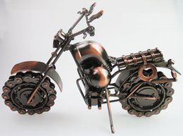 $enCountryForm.capitalKeyWord Canada - Large Size Hand Made iron Art Antique Bronze Metal Harley Motorcycle Motorbike Autobike Model Toys For Kids Men Birthday Gift Home Decor