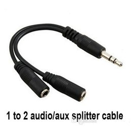 Shields Jack Canada - Audio Conversion Cable 3.5mm Male To Female Headphone Jack Splitter Audio Adapter Cable for iPod iPhone iPad