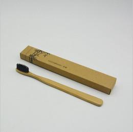 100Pcs Escovas de dentes de bambu Linguador de limpeza Dente de dentes de dentes Escova de dentes de viagem MADE IN CHINA FREE SHIPPING