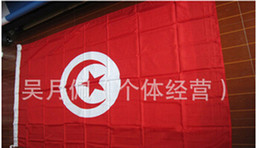 outdoor world flags Canada - Tunisia Flag Nation 3ft x 5ft Polyester Banner Flying150* 90cm Custom flag All over the world Worldwide outdoor