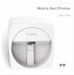 Mobile 3d videos online shopping - New O2NAILS Automatic nail painting machine V11 Multifunction Mobile Wifi Easy All Intelligent D Nail Printers Video To Teach