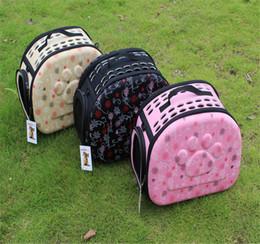 Portable Dog Carrier Bag Canada - Portable Folding Dog Cat Carrier Fashion Pet Bag For Outdoor Breathable Portable Folding Pet Bag 3 Colors 2017 Newest