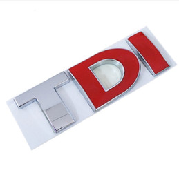 China Metal Alloy 3D TDI Car Emblem Badge Tail Decal Vehicle Sticker for VW Skoda Golf PASSAT MK4 MK5 MK6 Car DIY Decoration suppliers