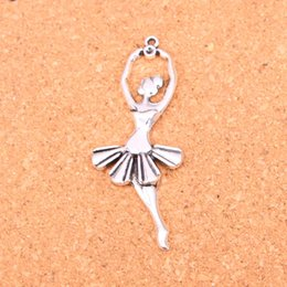 $enCountryForm.capitalKeyWord Australia - 40pcs Antique silver Charms ballet dancer ballerina Pendant Fit Bracelets Necklace DIY Metal Jewelry Making 61*24mm