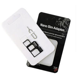 $enCountryForm.capitalKeyWord NZ - 2017 Noosy Nano Sim Card Adapters Micro Converter 4 in 1 Set Kit Eject Pin Pick for Cell Phone Android iPhone 4 5 6 7 Black White Retail Box