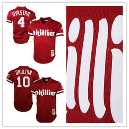 80692be14 ... Mitchell Ness Lenny Dykstra 4 Philadelphia Phillies Cooperstown  Collection Mesh Batting Practice baseball Jersey - Red Mens ...