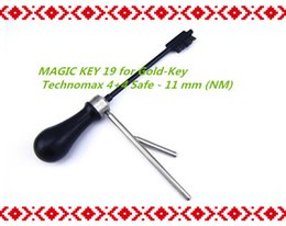 magic pick tool UK - 2019 FREE SHIPPING HIGH QUALITY NEW PRODUCT MAGIC KEY 19 for Gold-Key Technomax 4+4 Safe - 11 mm (NM) master key decoder locksmith tools