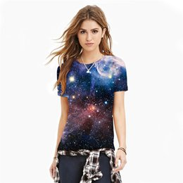 Space beautiful online shopping - Beautiful Space T shirts Fashion Womens t shirt Colorful D HD Print Summer Round Neck Short Sleeve Casual Tops Tees