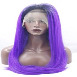 $enCountryForm.capitalKeyWord Australia - lace front wigs New long straight heat resistant fiber black to dark blue color mixing color hair synthetic lace front wig kabell wigs