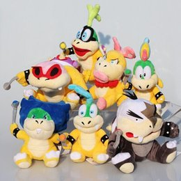 larry koopa plush toy Australia - Wholesale-7pcs lot Super Mario Koopalings Plush Toys Wendy LARRY IGGY Ludwig Roy Morton Lemmy Koopa Plush Toys Stuffed Doll