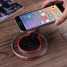 $enCountryForm.capitalKeyWord Canada - Universal K9 Qi Wireless Charger Original Charging Pad + Receiver For Samsung S7 S6 edge s8 plus Note 5 Wireless Charging For iPhone 8 5S 7