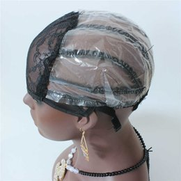 net wigs 2019 - In Stock Machine Made wig caps 5pc lot Making wigs with adjustable straps Weft back inside inner caps net for wig making