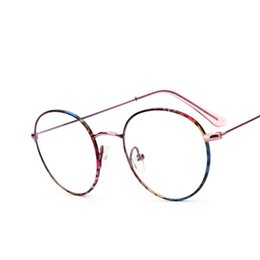 43bdcb13f9 Wholesale- Retro Round Spectacle Glasses Frames Brand Clear Lens Eyeglasses  Vintage Optical Circling Colorful Frame Women Eyewear Oculos